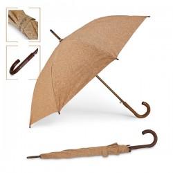 Елегантен автоматичен чадър с дървена дръжка