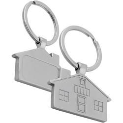 Бюджетен метален ключодържател - къщичка