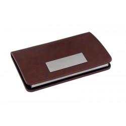 Кутия за визитки от метал и кожа - F.Bartholdi