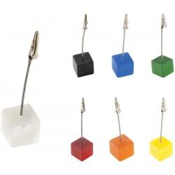 Пластмасова щипка за бележки с основа куб