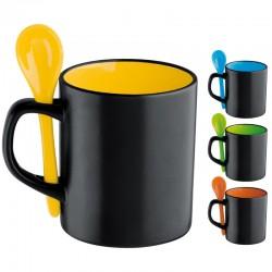 Керамична чаша с лъжичка