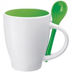 Рекламна керамична чаша с лъжичка в дръжката