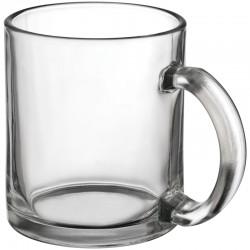 Прозрачна стъклена чаша за кафе