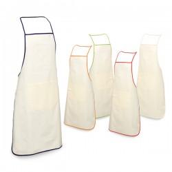 Рекламна кухненска престилка 100% памук с цветен кант