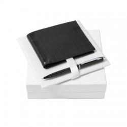 Луксозен бизнес комплект Trace / Nina Ricci включващ кожен портфейл и химикал