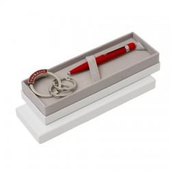 Луксозен бизнес комплект Wagram Red / Cacharel включващ метален химикал и луксозен ключодържател