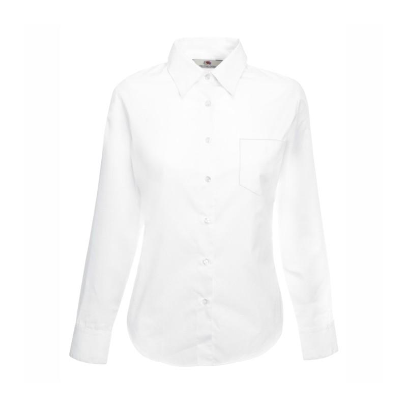 4ee20f8018d Официална дамска риза с дълъг ръкав Fruit of the Loom