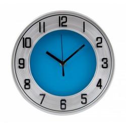 Рекламен стенен часовник със син циферблат - F.Bartholdi