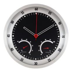 Метален стенен часовник с термометър и хидрометър - F.Bartholdi