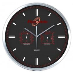Елегантен стенен часовник с термометър и хидрометър
