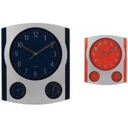 Стенен кварцов часовник с термометър и хидрометър
