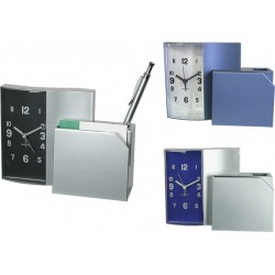 Часовник за бюро с визитник и поставка за химикалки