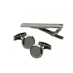 Луксозен комплект ръкавели и щипка за вратовръзка Jean-Louis Scherrer