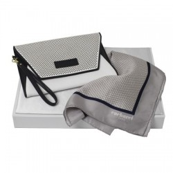 Луксозен дамски комплект дамска чантичка и шал Cacharel