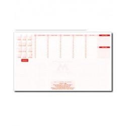 Голям настолен блокнот 50 листа формат А2 с печат на лого