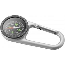 Компактен метале компас с карабинер