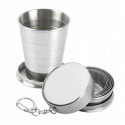 Сгъваема чашка от неръждаема стомана 70 мл с кутийка