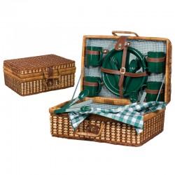 Ратанова кошница за пикник за четирима