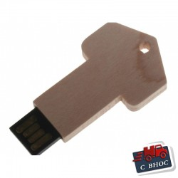 Бамбукова флашка с форма на ключ