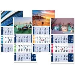 Стенен трисекционен календар Оптимум Лайт