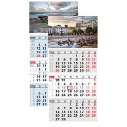Работен трисекционен календар Елит
