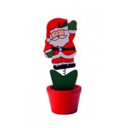 Дървен мемохолдер 'Дядо Коледа'