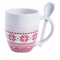 Коледна чаша с лъжичка
