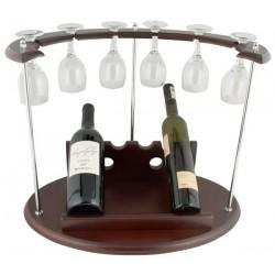 Рекламна поставка за вино с 6 чаши