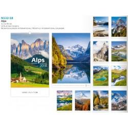 Атрактивен многолистов календар Алпи 2018