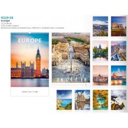 Луксозен немски календар Europe 2018