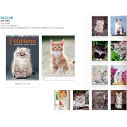 Малък луксозен календар Kittens 2018