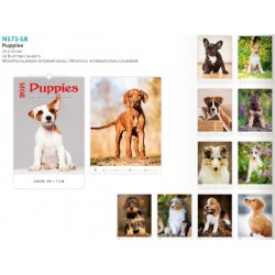 Луксозен компактен календар Puppies 2018