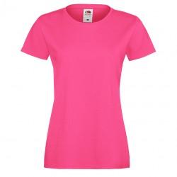 Рекламна дамска тениска с тънко бие Fruit of the Loom