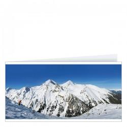 Рекламна картичка със зимен пейзаж