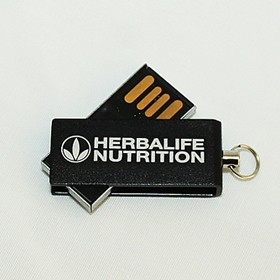 Компактна USB флашка с гравиране на лого Хербалайф