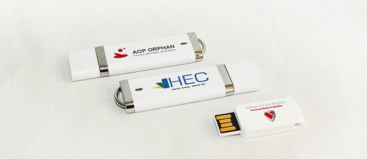Пълноцветен печат на пластмасови USB флаш памети