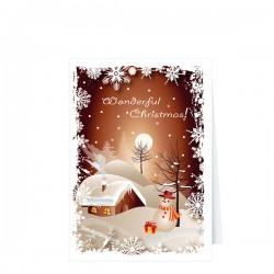 Красива картичка с Новогодишен дизайн