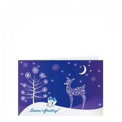 Красива поздравителна картичка с Коледни мотиви