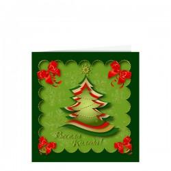Атрактивна поздравителна картичка за Коледа