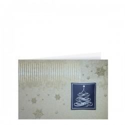 Луксозна двойна коледна картичка