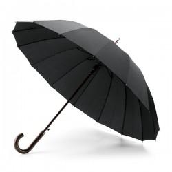 Практичен рекламен чадър с дървена дръжка