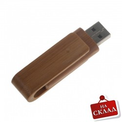Бамбукова рекламна флашка с клипс