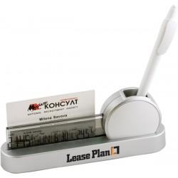 Практична поставка за бюро с часовник и термометър