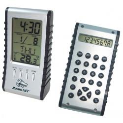 Практична поставка за бюро с часовник и калкулатор