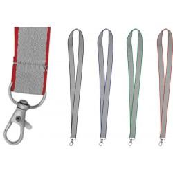 Връзки за бадж в сиво с цветен кант