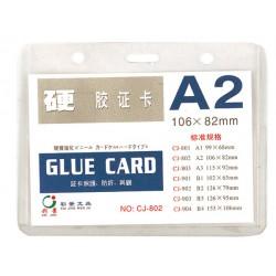 Хоризонтален бадж холдър от прозрачно PVC