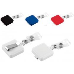 Пластмасова ролетка за бадж - бадж холдер в 4 цвята