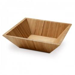 Купа за сервиране на салата от бамбук