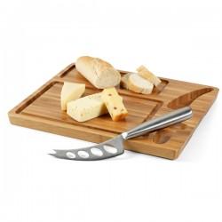Комплект бамбукова дъска и нож за рязане на сирена