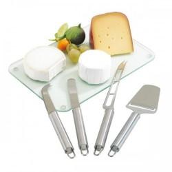 Комплект от четири части за рязане и сервиране на сирена